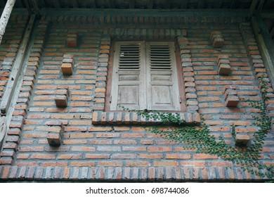 Window and brick walls