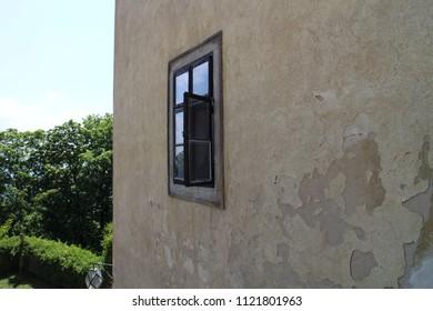 Window in Buchlov castle, Czech republic