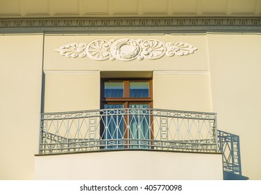 The window in the building. Art nouveau