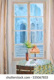 Window in cafe