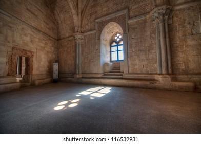 Window in Castel del Monte, Puglia, Italy