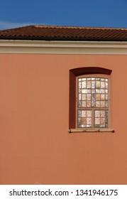 window of the church in Veli Losinj, island Losinj, Crpatia