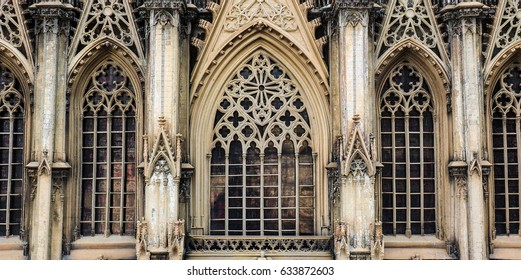 Window of Cologne cathedral in Cologne, Germany