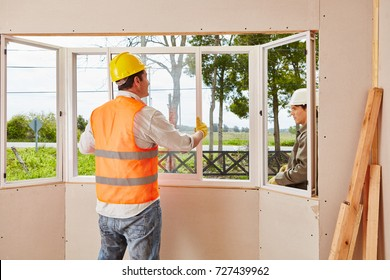 Window construction glaziery process for woodhouse