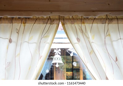 Window curtain opening