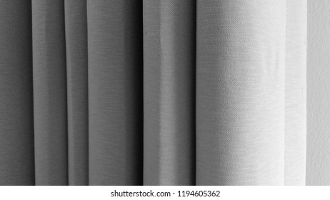 Window curtain and its vertical shade.