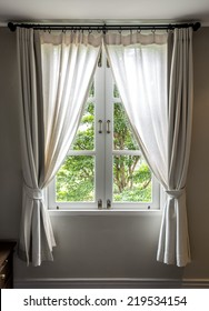Window and curtain Vintage