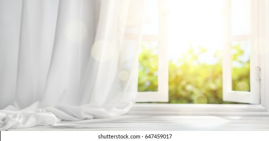 window with curtain,interiors background