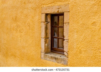 Window detail at Culross Palace is a late 16th - early 17th-century merchant's house in Culross, Fife, Scotland.
