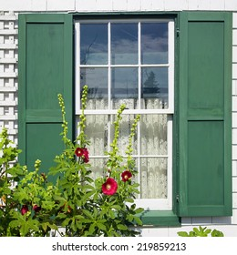 Window detail at Green Gables House on Prince Edward Island  Made famous in the book 'Anne of Green Gables' by L M Montgomery.