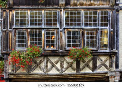 Window in Dinan, Brittany, France