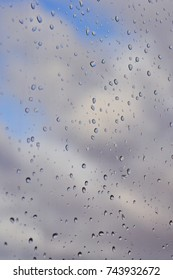 window with drops on it