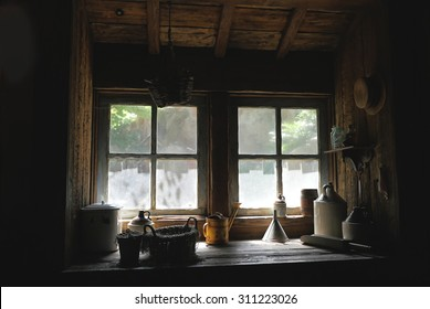 Window of the farmhouse