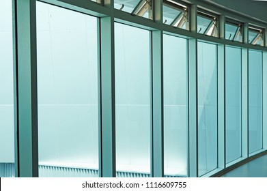 Window film with light filter.