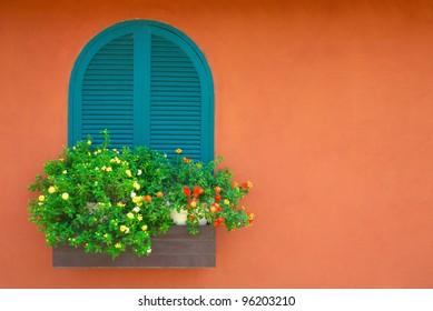 window and flowerpot