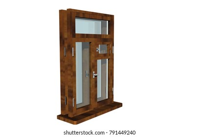 window frame 3D rendering