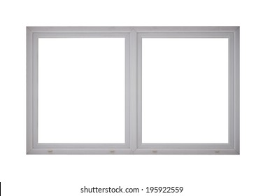 Window frame isolated on white.