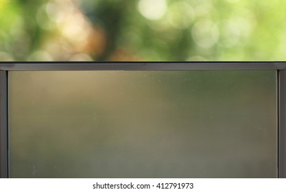 window glass Moore on the bokeh background.