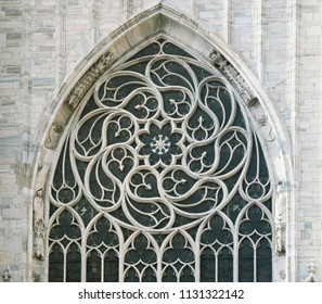 Window of a gothic cathedral