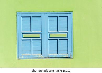 Window and green wall