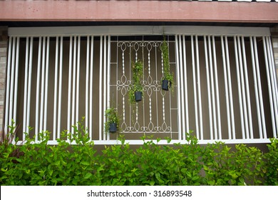 Window Grill Home Design Ideas Typical windows with grilles and decorative flowers