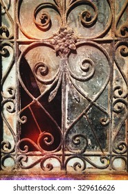 Window with heart grate