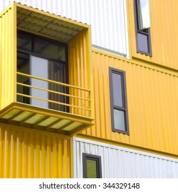 window of house made from container