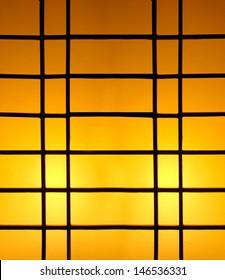 Window illuminated at night