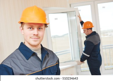 window installation workers
