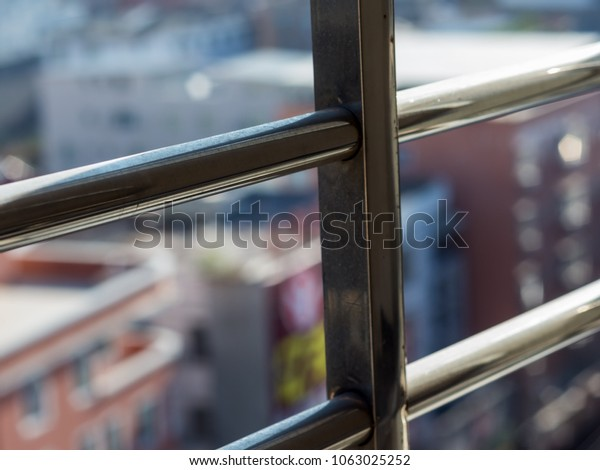 Window lattice and view for city.