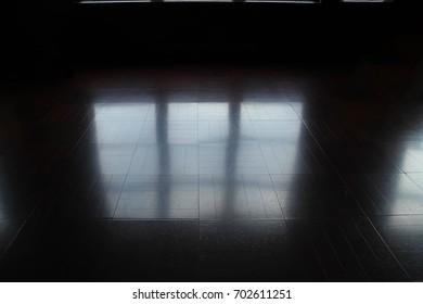 Window light reflected on the floor