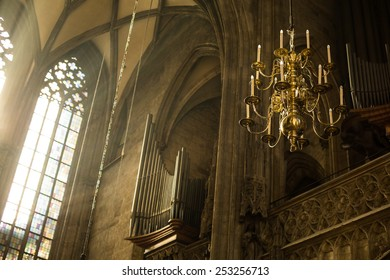 Window Lighting to Lantern in Saint Stephan Cathedral - Vienna, Austria