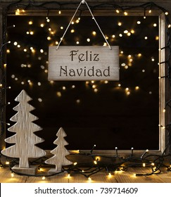 Window, Lights In Night, Feliz Navidad Means Merry Christmas