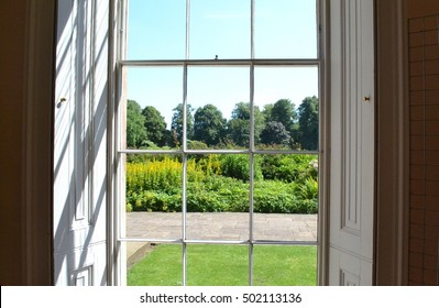 a window looking out onto a scenic view