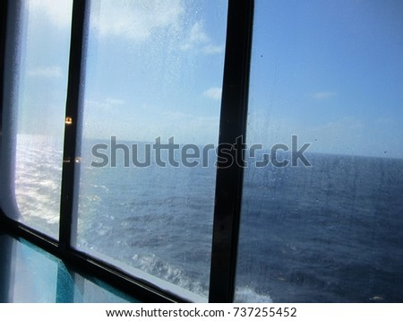 Window Looking Outside Gulf Mexico Stock Photo Edit Now 737255452