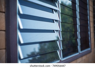 Window  louver  on the wall.