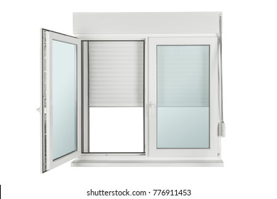 window made of PVC isolated on white