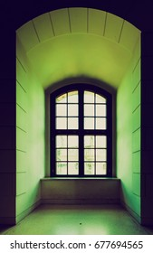 Window of a medieval castle interior
