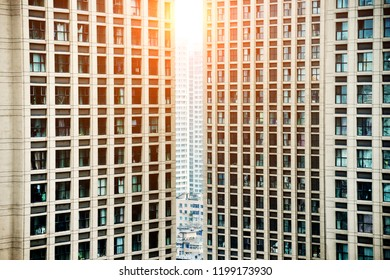 Window of modern housing apartments.