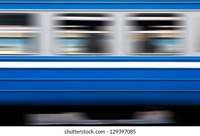 the window of a moving electric train