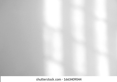 Window natural shadow overlay effect on white texture background, for overlay on product presentation, backdrop and mockup, summer seasonal concept - Shutterstock ID 1663409044