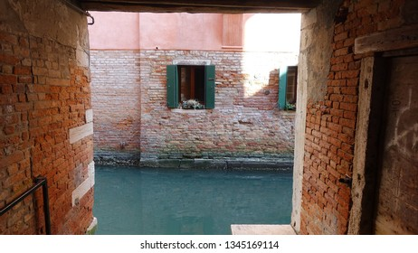 Window near canal in Venice