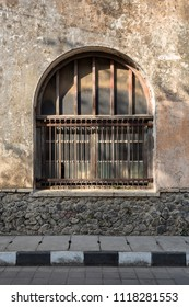 A Window of an Old Colonial Building in Old City Area in Semaran