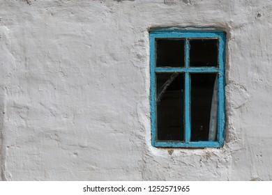 Window at an old house in Bulunkul in Tajikistan