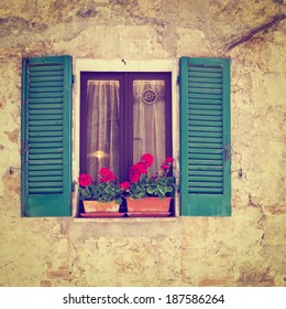 Window  of the Old Italian House, Instagram Effect