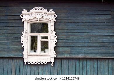 Window in old Russian town