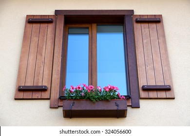 Window from outside. Casement