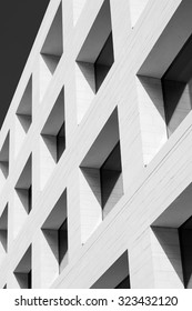 Window pattern. Detail of contemporary facade.