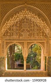 Window portal beautifully decorated in moorish style