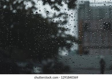 window rain drop on glass window
